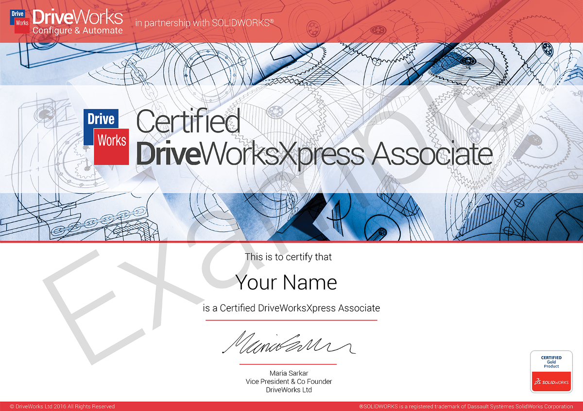 Education | DriveWorksXpress Certification
